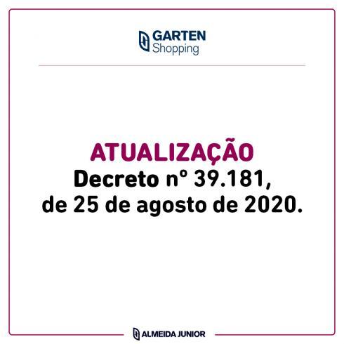 Atualização Decreto nº 39.181, de 25 de agosto de 2020.
