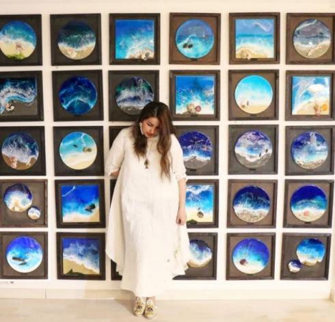 Rafaella Seleme estreia exposição no Nações Shopping