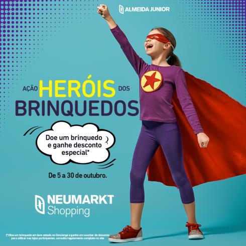 """Mês da criança: shoppings incentivam doação com a ação """"Heróis dos brinquedos"""""""