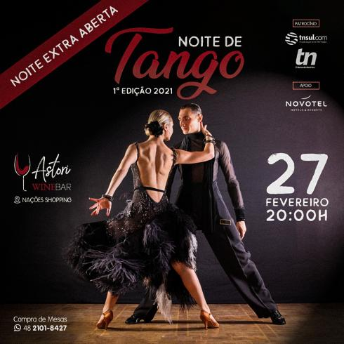 Noite de Tango vai embalar o público no Astori WineBar do Nações Shopping