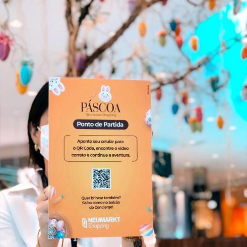 Crianças poderão se divertir com Caça aos Ovos digital e encontro com o Sr. Coelho no Neumarkt Shopping