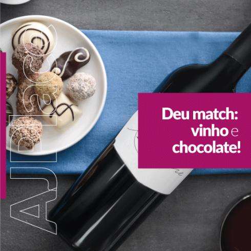 Deu match: vinho e chocolate!