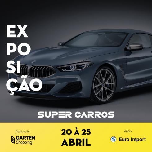 Supercarros BMW estacionam no Garten Shopping