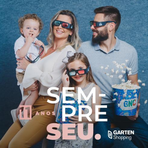 Garten Shopping lança campanha de aniversário de 11 anos com personalidades da cidade