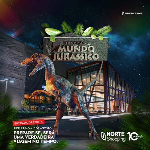 O Mundo Jurássico está de volta ao Norte Shopping!