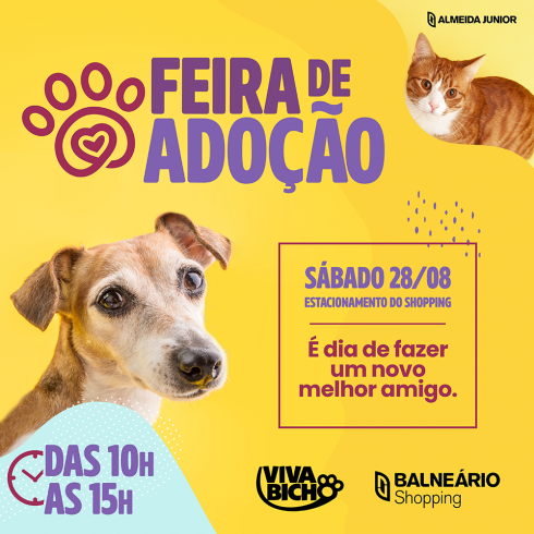 Balneário Shopping promove Feira de Adoção neste sábado