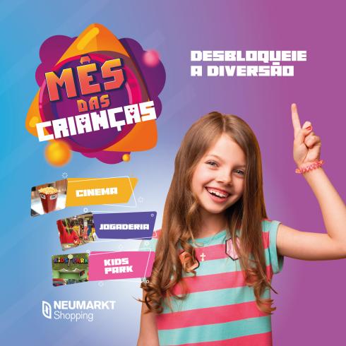 Outubro tem diversão garantida para a criançada no Neumarkt e Norte Shopping