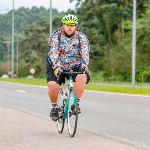 Ciclista e influenciador digital, Rafael Obelix participa de Talk Show no Norte Shopping